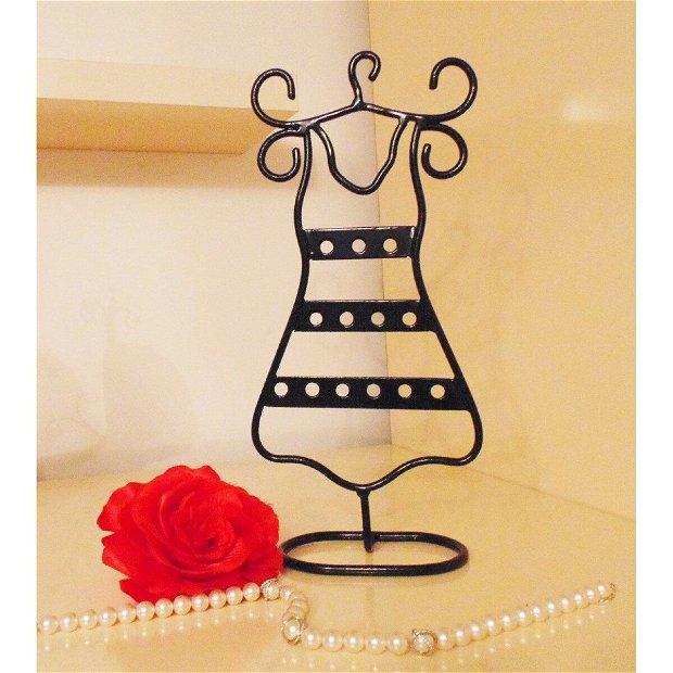Suport bijuterii din fier forjat rochie