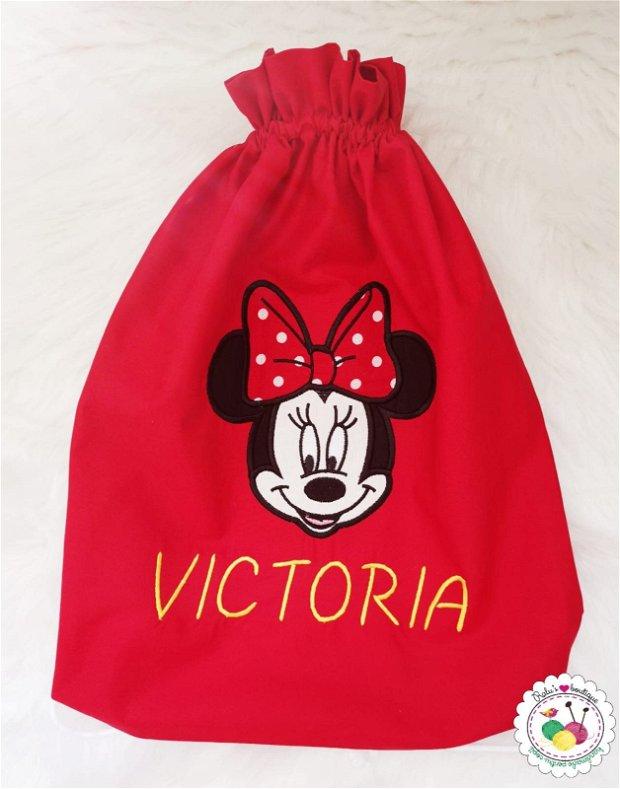 Saculet gradinita personalizat - Minnie