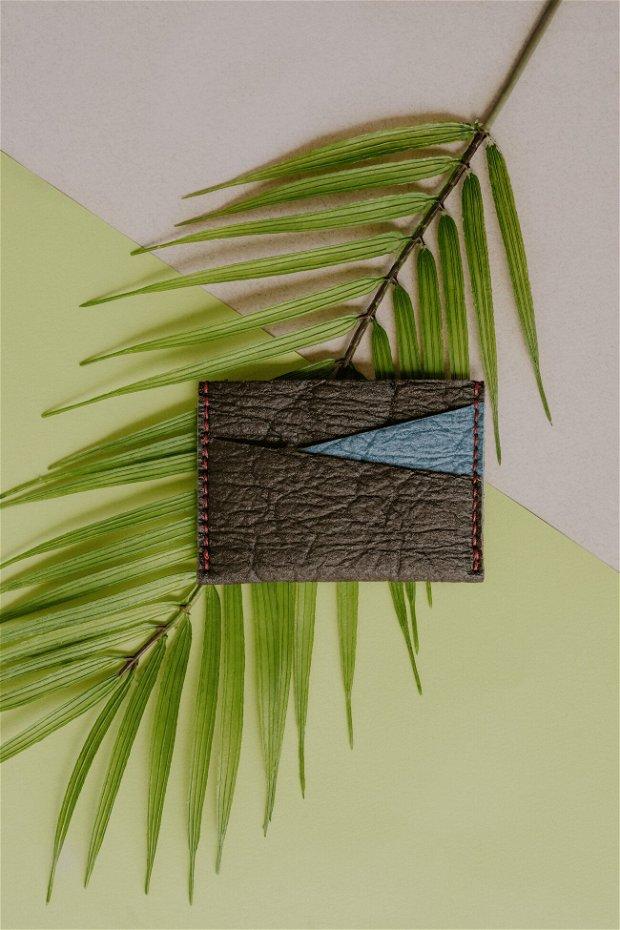 "Portofel MiniC ""AD15"" din Pinatex - piele de ananas, slim"