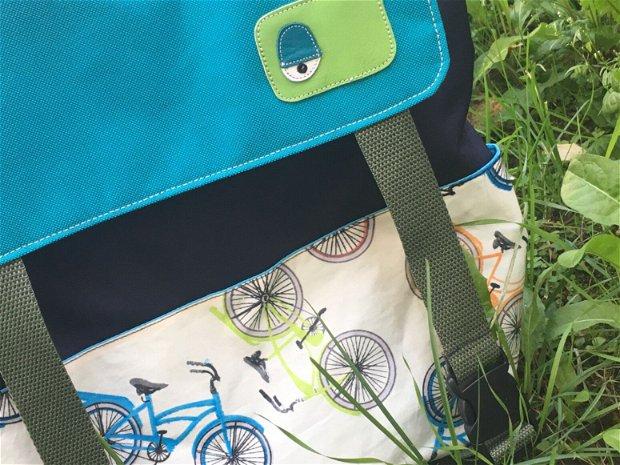 Rucsac  Ride a Bike, geanta laptop, impermeabil