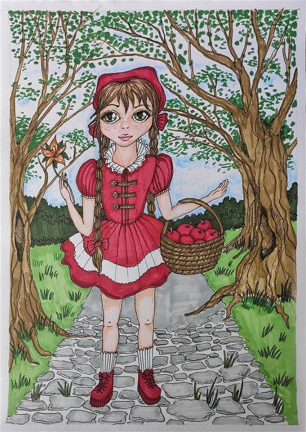 Ilustratie Scufita Rosie
