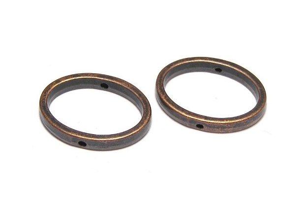 Link metalic, cupru, 19x14.5 mm