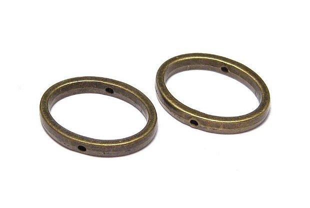 Link metalic, bronz, 19x14.5 mm