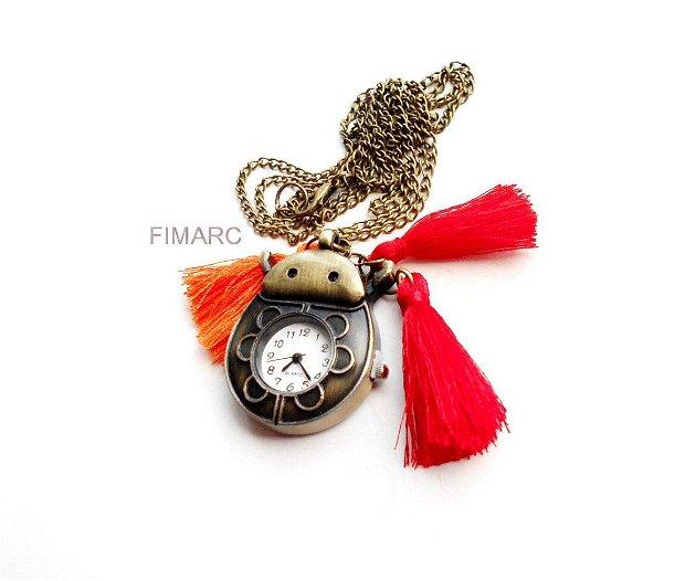 ''Gargarita''-colier din lant cu ceas functional si ciucuri