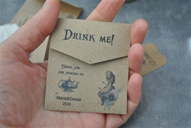 25 pliculete pentru ceai - personalizate