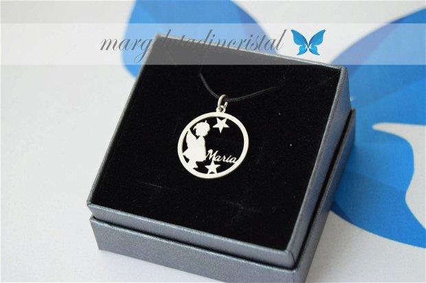 Pandantiv personalizat / Ingerasul Meu / Mama de inger / Argint 925
