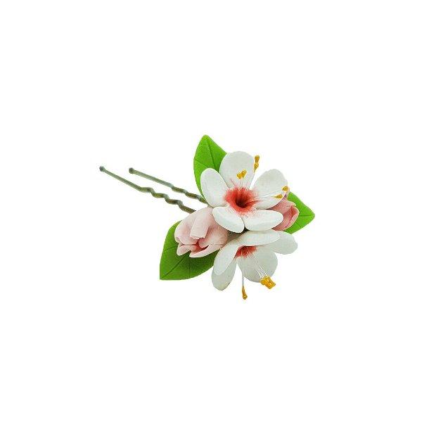 Accesoriu par flori de cires