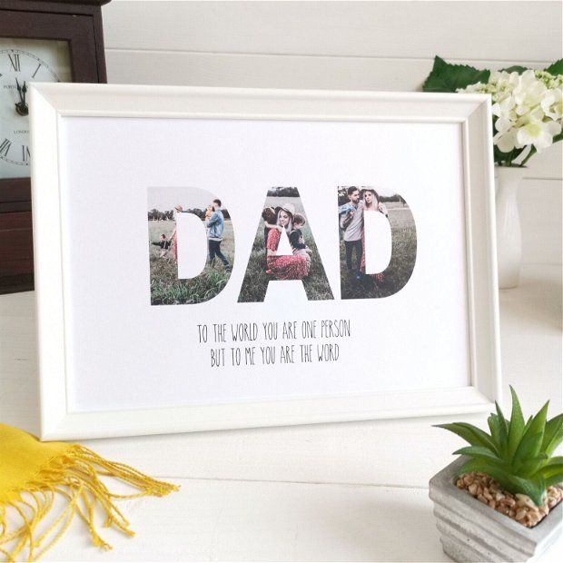DAD   Tablou poster personalizat   Rama foto decorativa