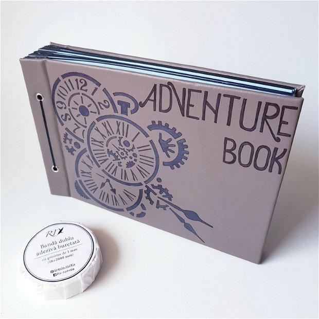 Album Foto - Adventure Book - cu coperta din piele