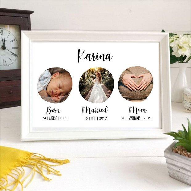 Tablou poster personalizat pentru ea | Rama foto decorativa