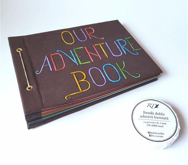 Album Foto - Our Adventure Book - cu coperta din piele maro