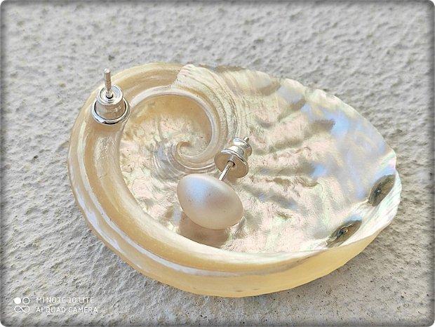 Cercei Scoica cu 5 cristale, montati pe argint 925