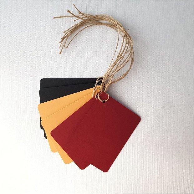 Set etichete pentru cadou - culori tomnatice
