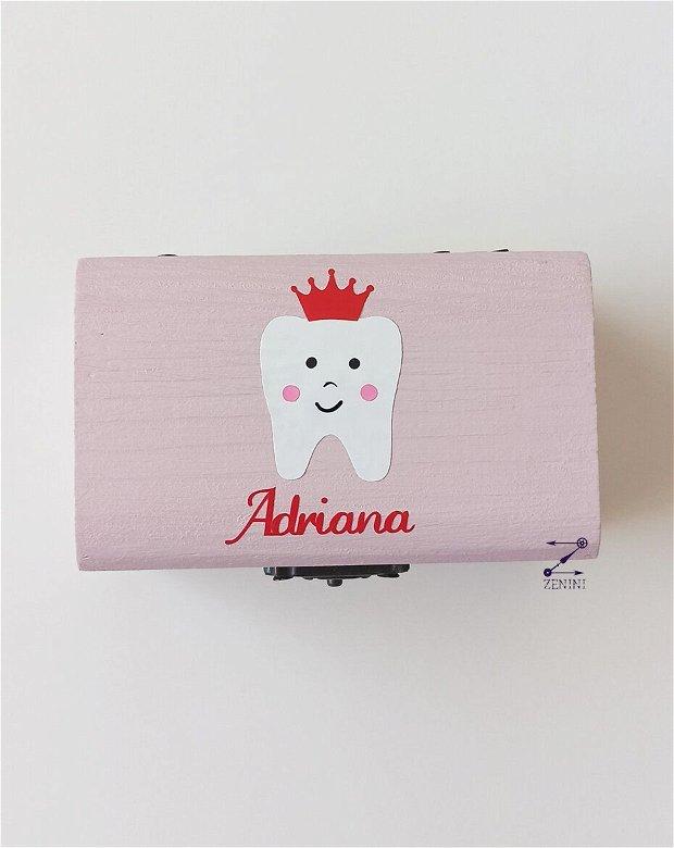 Cutie dintisori lapte, cutie pentru dinti, cutie personalizata dinti lapte, cutie personalizata copii