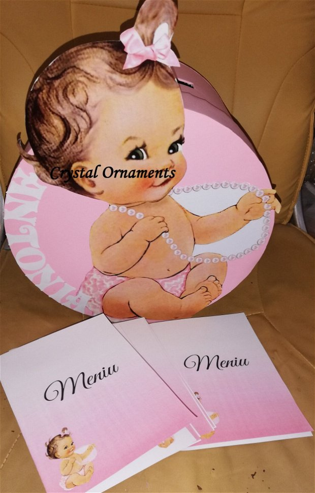 Cutie de dar botez baby girl