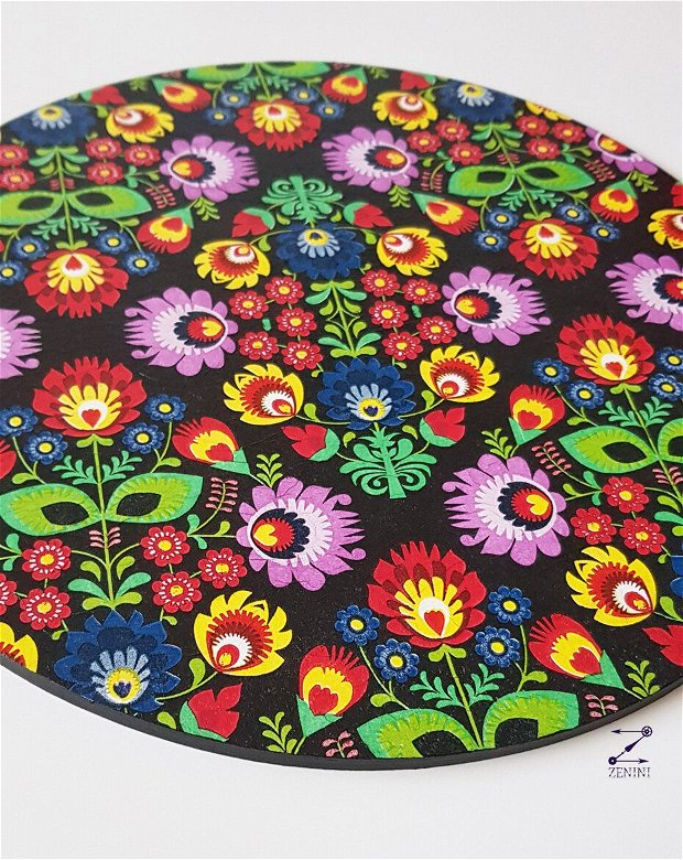 Suporturi pahar flori, set coastere flori, set masa model floral, suport platou flori, coaster cu flori