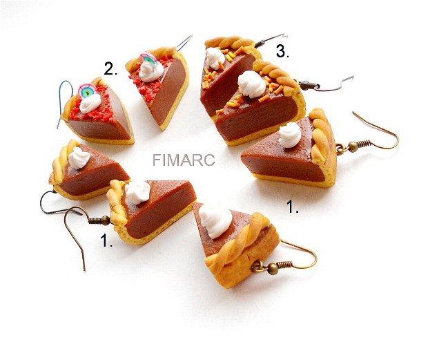 Chocolate Pumpkin Pie - cercei atarnatori