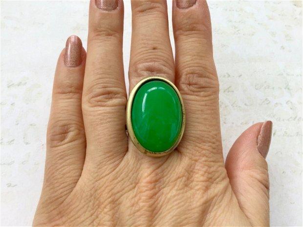 Inele vintage jad verde