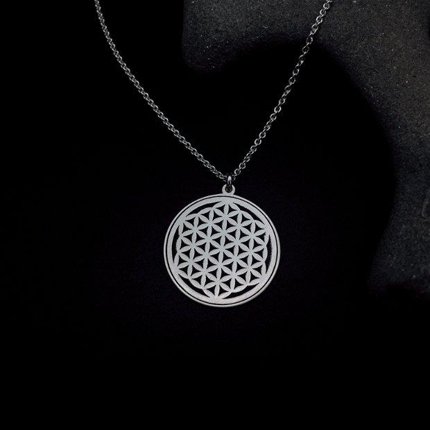 Colier Floarea Vietii - Colier din argint cu simbolul Florea Vietii