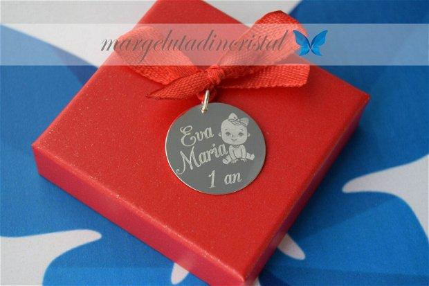 Banut Mot/Botez/Ruperea Turtei / Argint 925 / 2,2 cm