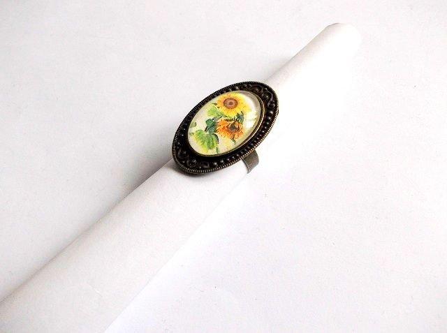 inel sticla floarea soarelui 36723