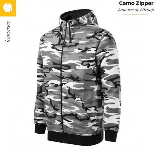 Hanorac camuflaj gri, pentru barbati, Camo Zipper