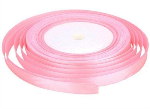 Panglica satin roz 6 mm