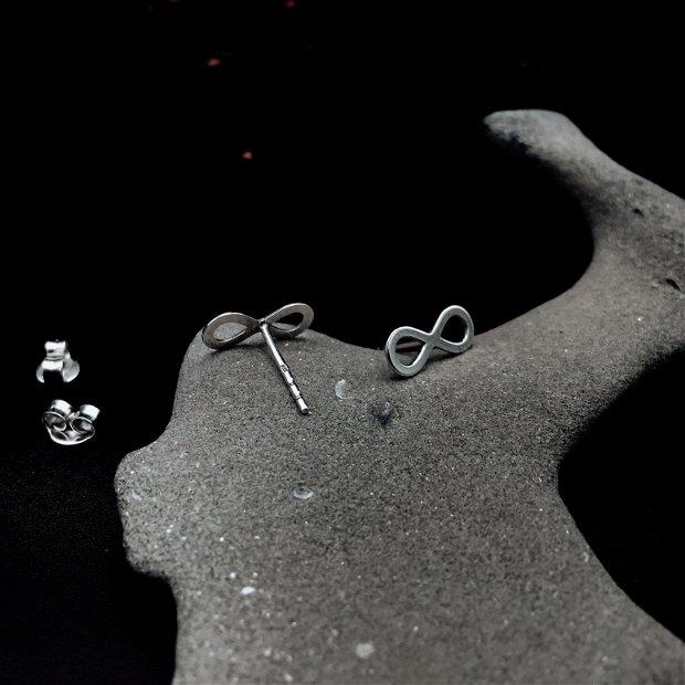 """Cercei """"Infinity"""" din argint - cercei infinit - cercei simbol infinit - cercei cu infinit - cercei pentru cadou"""