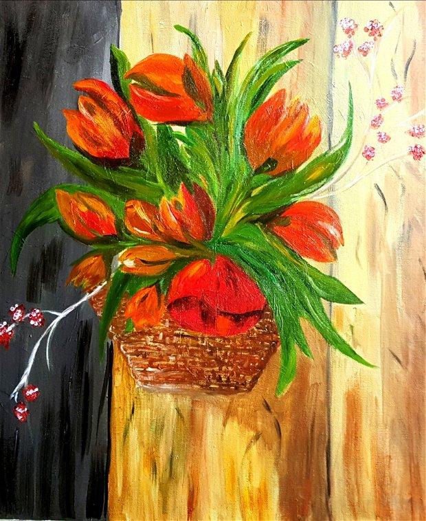 lalele pictura pe panza