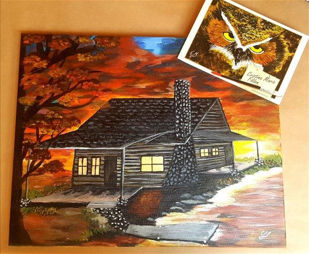 Casa din vis pictura pe panza