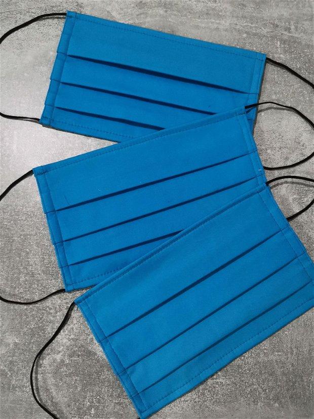masca din bumbac albastru & TNT, cu sarma modelatoarea