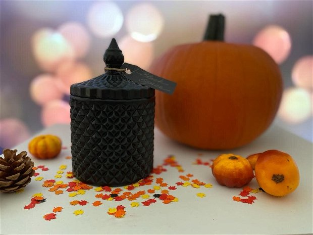 Lumanare parfumata Pumpkin Spice, in bomboniera mare