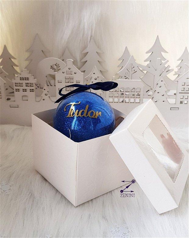 Glob cu nume, glob sclipici Craciun, ornament sclipici, ornament glitter, glob personalizat, ornament cu nume
