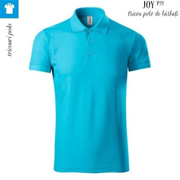 Tricou polo 3XL Turcoaz pentru barbati Piccolio Joy