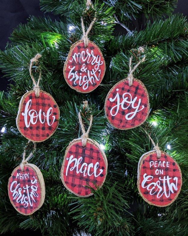 Set de 6 ornamente de Craciun