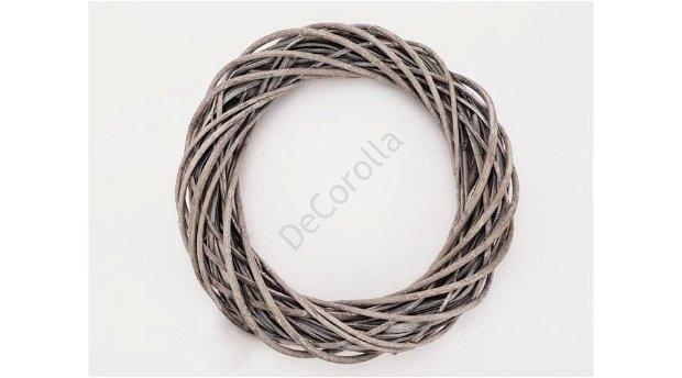 Coronita din nuiele 30 cm (diam. exterior)- gri- 0552