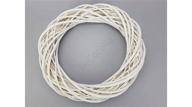 Coronita din nuiele 35 cm (diam. exterior)- alb (0551)