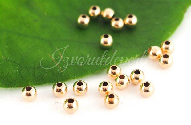 Margele 2.5/3mm, gold filled (1)