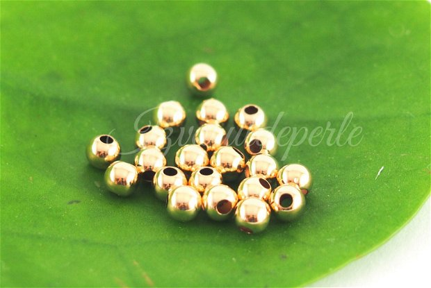 Margele 4mm, 14 K gold filled (1)