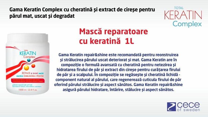 Masca Total Keratin Complex reparatoare cu cheratina si lipide din lapte 1l cod 5939