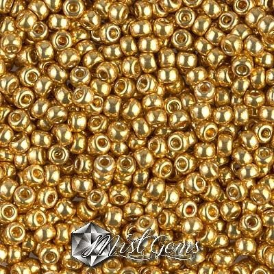 Miyuki Rocailles RR8/0-4202 Duracoat Galvanized Gold