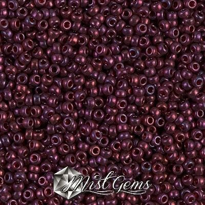 Miyuki Rocailles RR11/0-0313 Gold Luster Cranberry