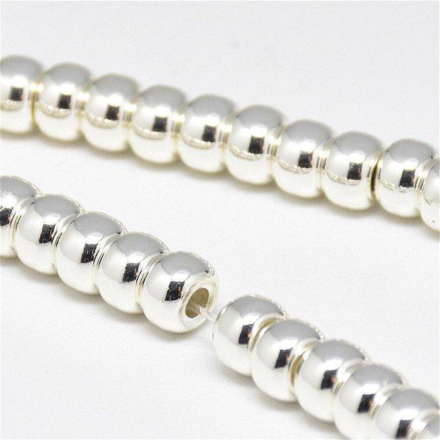 10 buc.Hematit rondele electroplacate,culoare argintie-6X4mm SP960