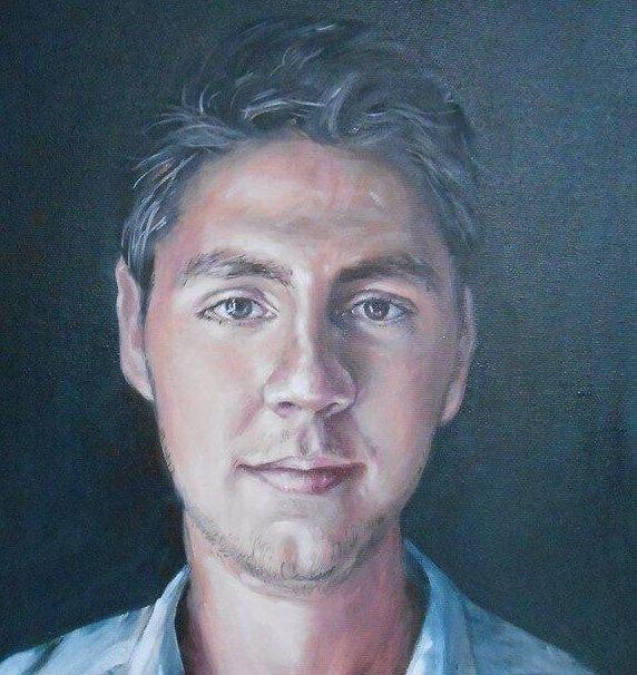 Portret pictură în ulei pe pânză