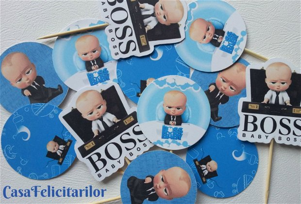 Toppers Baby boss cu nume