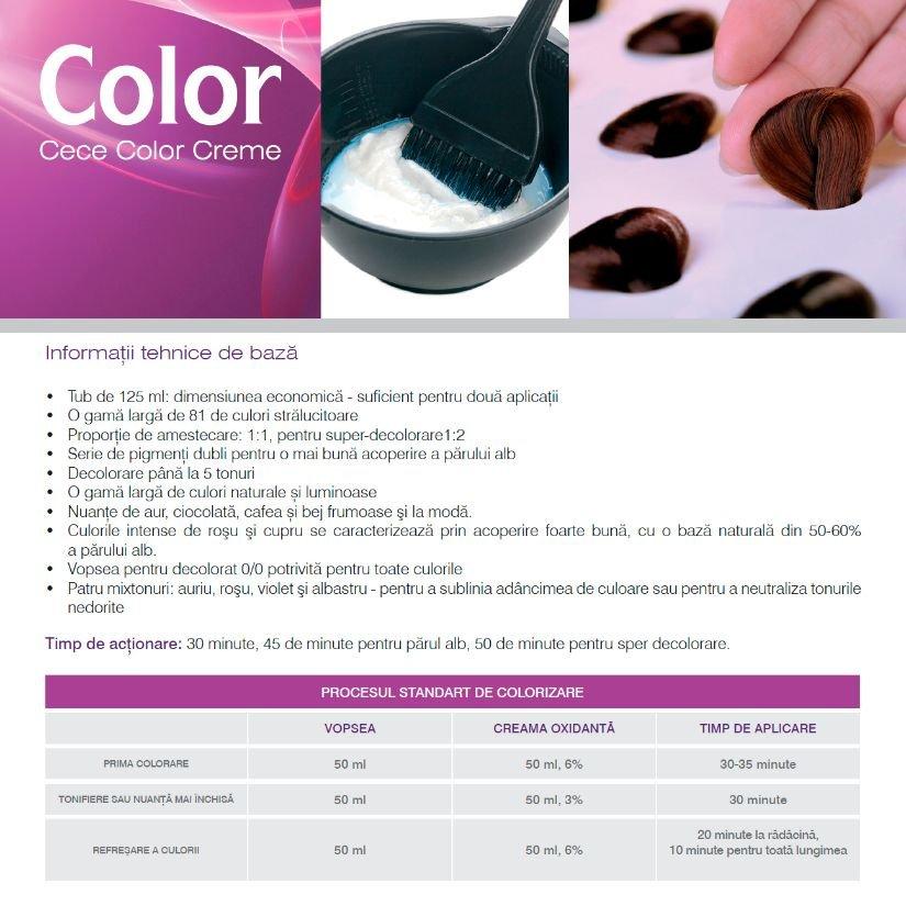 Vopsea profesionala permanenta Cece of sweden 125 ml  nr.7/57-rosu violet/red violet blond
