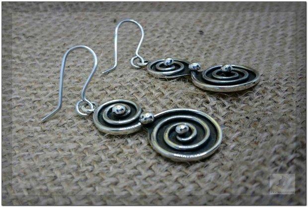 Cercei argint spirală dublă