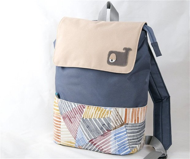 Rucsac laptop, Colorful stripes
