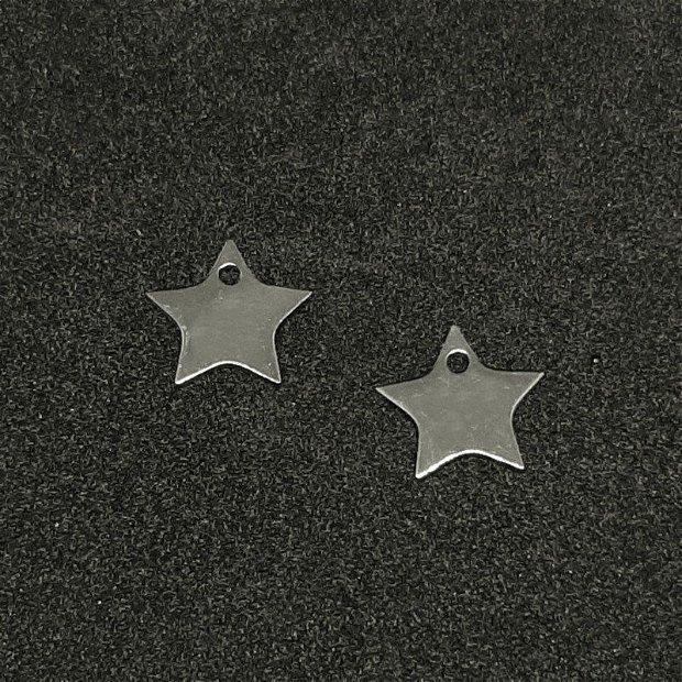 Charm, stea, otel inoxidabil 11x12x1mm INOX 098