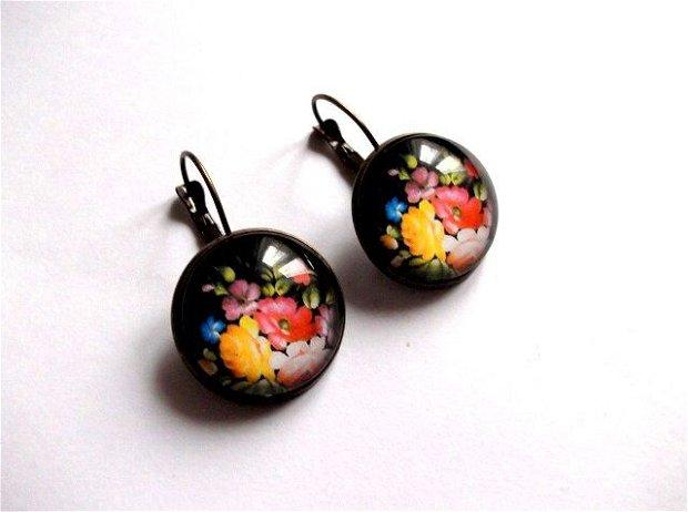 cercei cu motiv floral 38101